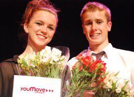 Best Female Dancer, Tanya Brown and Best Male Dancer, Tom Woodman